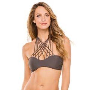Mikoh kahala crisscross halter bikini top